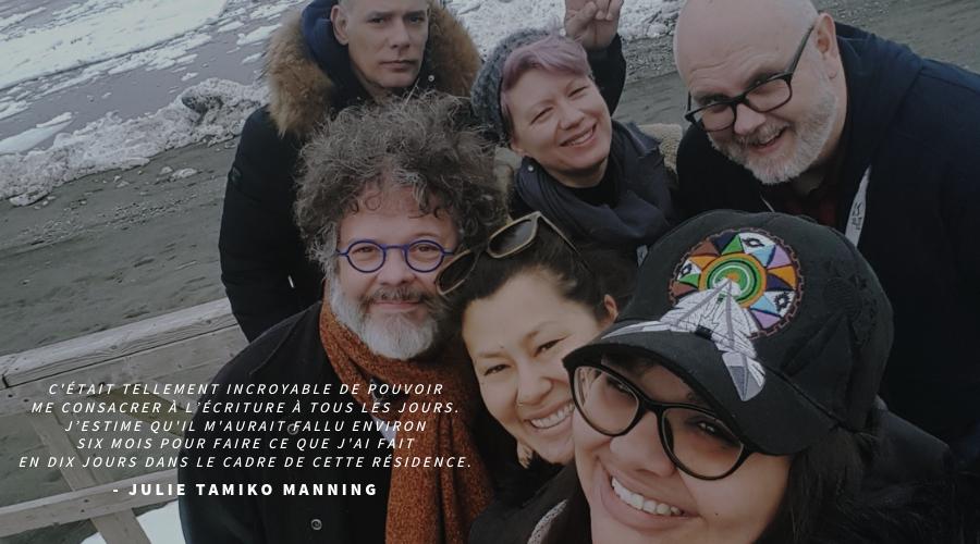 Julie Tamiko Manning à la Résidence d'écriture théâtrale de Gros-Morne