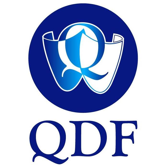 This image has an empty alt attribute; its file name is QDF-Logo.jpg